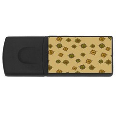 Compass Circle Brown Usb Flash Drive Rectangular (4 Gb) by Alisyart