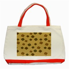 Compass Circle Brown Classic Tote Bag (red) by Alisyart