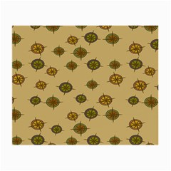 Compass Circle Brown Small Glasses Cloth (2 Side) by Alisyart