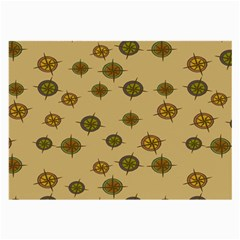 Compass Circle Brown Large Glasses Cloth (2 Side) by Alisyart