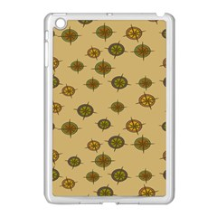 Compass Circle Brown Apple Ipad Mini Case (white) by Alisyart