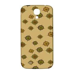 Compass Circle Brown Samsung Galaxy S4 I9500/i9505  Hardshell Back Case by Alisyart