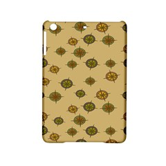 Compass Circle Brown Ipad Mini 2 Hardshell Cases by Alisyart