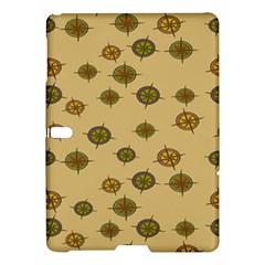 Compass Circle Brown Samsung Galaxy Tab S (10 5 ) Hardshell Case  by Alisyart