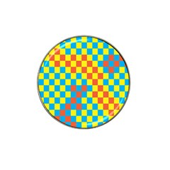 Optical Illusions Plaid Line Yellow Blue Red Flag Hat Clip Ball Marker (4 Pack) by Alisyart