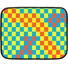Optical Illusions Plaid Line Yellow Blue Red Flag Double Sided Fleece Blanket (mini)  by Alisyart