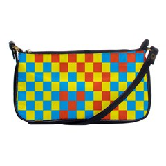Optical Illusions Plaid Line Yellow Blue Red Flag Shoulder Clutch Bags by Alisyart