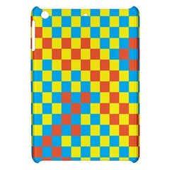 Optical Illusions Plaid Line Yellow Blue Red Flag Apple Ipad Mini Hardshell Case by Alisyart