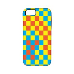 Optical Illusions Plaid Line Yellow Blue Red Flag Apple Iphone 5 Classic Hardshell Case (pc+silicone) by Alisyart