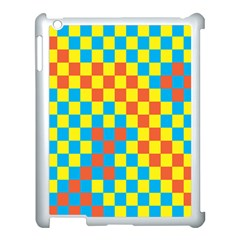 Optical Illusions Plaid Line Yellow Blue Red Flag Apple Ipad 3/4 Case (white) by Alisyart