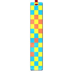 Optical Illusions Plaid Line Yellow Blue Red Flag Large Book Marks by Alisyart