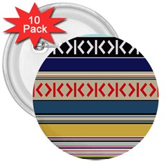 Original Code Rainbow Color Chevron Wave Line 3  Buttons (10 Pack)  by Alisyart