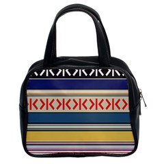 Original Code Rainbow Color Chevron Wave Line Classic Handbags (2 Sides) by Alisyart