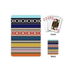 Original Code Rainbow Color Chevron Wave Line Playing Cards (mini)  by Alisyart