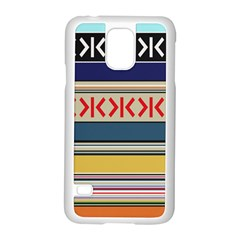 Original Code Rainbow Color Chevron Wave Line Samsung Galaxy S5 Case (white) by Alisyart