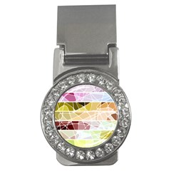 Geometric Mosaic Line Rainbow Money Clips (cz)  by Alisyart