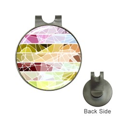 Geometric Mosaic Line Rainbow Hat Clips With Golf Markers by Alisyart