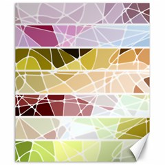 Geometric Mosaic Line Rainbow Canvas 20  X 24   by Alisyart