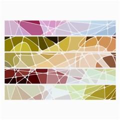 Geometric Mosaic Line Rainbow Large Glasses Cloth by Alisyart