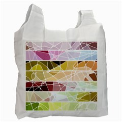 Geometric Mosaic Line Rainbow Recycle Bag (two Side)  by Alisyart