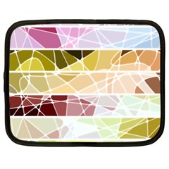 Geometric Mosaic Line Rainbow Netbook Case (xxl)  by Alisyart