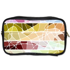 Geometric Mosaic Line Rainbow Toiletries Bags 2 Side by Alisyart