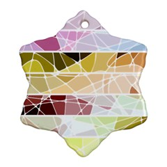Geometric Mosaic Line Rainbow Snowflake Ornament (two Sides) by Alisyart