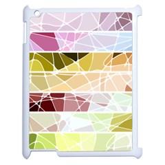 Geometric Mosaic Line Rainbow Apple Ipad 2 Case (white) by Alisyart