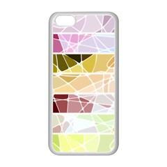 Geometric Mosaic Line Rainbow Apple Iphone 5c Seamless Case (white) by Alisyart
