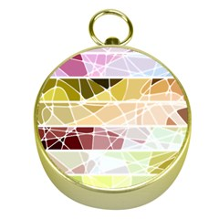 Geometric Mosaic Line Rainbow Gold Compasses by Alisyart