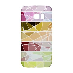 Geometric Mosaic Line Rainbow Galaxy S6 Edge by Alisyart