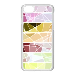 Geometric Mosaic Line Rainbow Apple Iphone 7 Seamless Case (white) by Alisyart