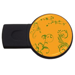 Nature Leaf Green Orange Usb Flash Drive Round (4 Gb) by Alisyart