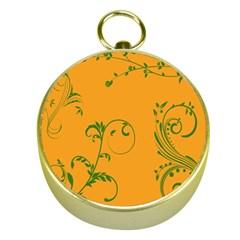 Nature Leaf Green Orange Gold Compasses by Alisyart