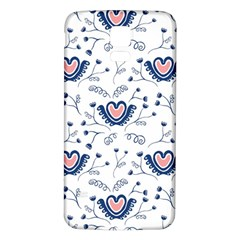 Heart Love Valentine Flower Floral Purple Samsung Galaxy S5 Back Case (white) by Alisyart