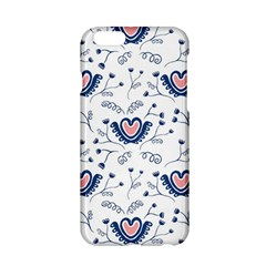 Heart Love Valentine Flower Floral Purple Apple Iphone 6/6s Hardshell Case by Alisyart