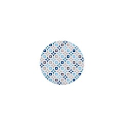 Plaid Line Chevron Wave Blue Grey Circle 1  Mini Buttons by Alisyart