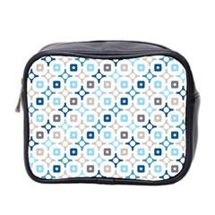Plaid Line Chevron Wave Blue Grey Circle Mini Toiletries Bag 2 Side by Alisyart