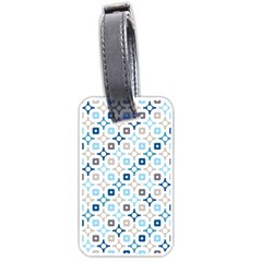Plaid Line Chevron Wave Blue Grey Circle Luggage Tags (two Sides) by Alisyart