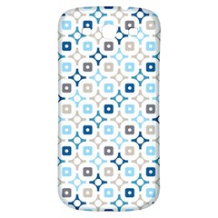 Plaid Line Chevron Wave Blue Grey Circle Samsung Galaxy S3 S Iii Classic Hardshell Back Case by Alisyart