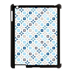 Plaid Line Chevron Wave Blue Grey Circle Apple Ipad 3/4 Case (black) by Alisyart