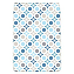Plaid Line Chevron Wave Blue Grey Circle Flap Covers (l)  by Alisyart