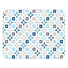 Plaid Line Chevron Wave Blue Grey Circle Double Sided Flano Blanket (large)  by Alisyart