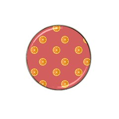 Oranges Lime Fruit Red Circle Hat Clip Ball Marker by Alisyart