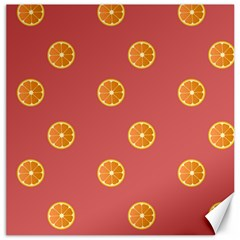 Oranges Lime Fruit Red Circle Canvas 16  X 16   by Alisyart