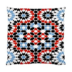 Oriental Star Plaid Triangle Red Black Blue White Standard Cushion Case (two Sides) by Alisyart