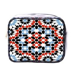 Oriental Star Plaid Triangle Red Black Blue White Mini Toiletries Bags by Alisyart