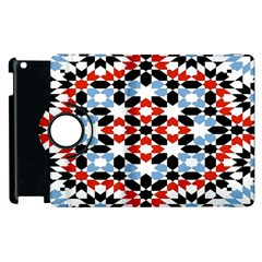 Oriental Star Plaid Triangle Red Black Blue White Apple Ipad 2 Flip 360 Case by Alisyart