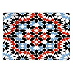 Oriental Star Plaid Triangle Red Black Blue White Samsung Galaxy Tab 10 1  P7500 Flip Case by Alisyart
