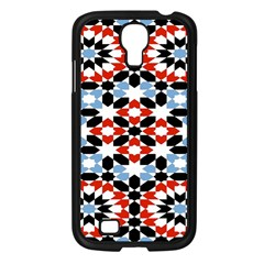 Oriental Star Plaid Triangle Red Black Blue White Samsung Galaxy S4 I9500/ I9505 Case (black) by Alisyart